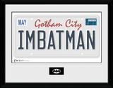 Batman- I Am Batman License Plate Lámina de coleccionista