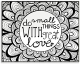 Do Small Things with Great Love DIY Coloring Wall Plaque Wood Sign
