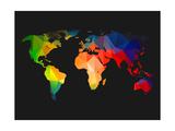 World Wire Map 1 Prints by  NaxArt