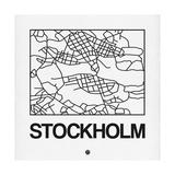 White Map of Stockholm Kunst af NaxArt