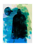 Darth and a Star Watercolor Posters by Lora Feldman
