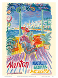 Menton, France - Mer Monts et Merveille (Mountains and Sea Wonder) Art by Constantin Terechkovitch