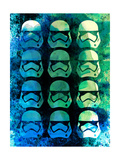 Trooper Collage Watercolor Poster by Lora Feldman