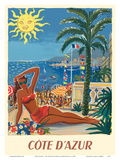 Cote d'Azur - France - The French Riveria Posters by Hervé Baille