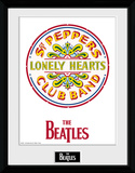 The Beatles- Sgt Pepper Lonely Hearts Logo Collector Print