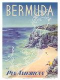 Bermuda - via Pan American World Airways Prints by  Loweree