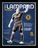 Chelsea- Lampard Retro Wydruk kolekcjonerski