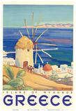 Greece - Island of Mykonos Prints by  Pacifica Island Art