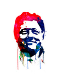 Bill Clinton Watercolor Prints by Lora Feldman