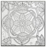 Kaleidoscope Pond Flower DIY Coloring Wall Plaque Wood Sign