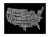 Typography Usa Map Posters by  NaxArt