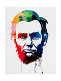 Abraham Lincoln Watercolor Posters by Lora Feldman