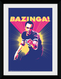 The Big Bang Theory- Bazinga Sheldon Collector-tryk
