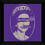 Sex Pistols - God Save The Queen Framed Album Art Collector-tryk