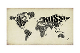 Typography World Map 4 Poster by  NaxArt