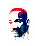Martin Luther King, Jr. Watercolor Poster by Lora Feldman