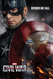Captain America: Civil War - Captain America Vs Iron Man. Choose a Side Kunstdruck