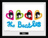The Beatles- Love Hearts Samletrykk