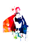 Nacho Watercolor Poster by Lora Feldman