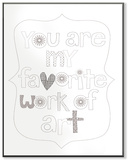 You Are My Favorite Art DIY Coloring Wall Plaque Wood Sign