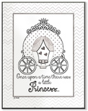 Once Upon Princess DIY Coloring Wall Plaque Wood Sign
