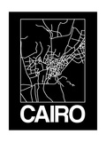 Black Map of Cairo Posters by  NaxArt