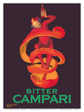 Bitter Campari Aperitif - Clown Wrapped in Orange Peel Posters av Leonetto Cappiello