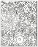 Birds with Flowers DIY Coloring Wall Plaque Wood Sign