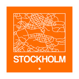 Orange Map of Stockholm Prints by  NaxArt