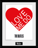 The Beatles- Love Me Do Heart Samletrykk