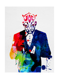 Maul in a Suite Watercolor Posters by Lora Feldman