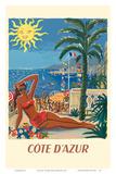 Cote d'Azur - France - The French Riveria Sztuka autor Hervé Baille