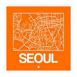 Orange Map of Seoul Posters by  NaxArt