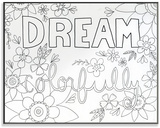 Dream Colorfully DIY Coloring Wall Plaque Wood Sign