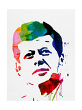 JFK Watercolor Prints by Lora Feldman