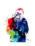 Chewbacca in a Suite Watercolor Posters by Lora Feldman