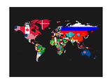 World Map Contry Flags 1 Prints by  NaxArt