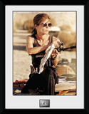 Terminator 2- Sarah Weapons Cleaning Collector Print