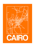Orange Map of Cairo Prints by  NaxArt