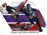 Captain America: Civil War - Team Captain America Print