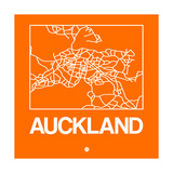 Orange Map of Auckland Prints by  NaxArt