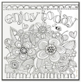 Enjoy Today DIY Coloring Wall Plaque Wood Sign