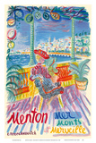 Menton, France - Mer Monts et Merveille (Mountains and Sea Wonder) Posters by Constantin Terechkovitch