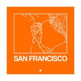 Orange Map of San Francisco Prints by  NaxArt