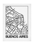 White Map of Buenos Aires Posters by  NaxArt