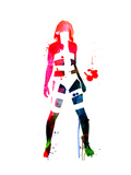 Leeloo Watercolor Kunst von Lora Feldman