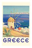 Greece - Island of Mykonos Wydruk giclee premium autor Pacifica Island Art