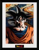 Dragon Ball Z- Serious Goku Reproduction encadrée pour collectionneurs