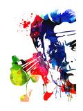Harry with a Gun Watercolor 2 Poster von Lora Feldman
