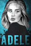 Adele Illustration Poster von  Lynx Art Collection